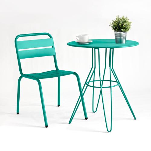 La rochelle aluminium sidechair jb commercial contract furniture - La table basque la rochelle ...
