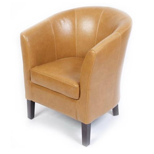 Bristol Leather Tub Chair - Commercial Tub Chairs | JB Commercial & Contract Furniture